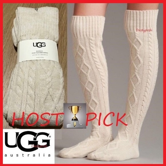 f014ed73895 UGG Cable Knit Over The Knee Socks Thigh High OTK
